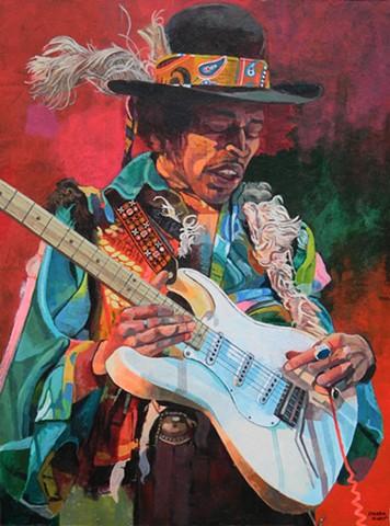 Portrait of Jimmy Hendrix