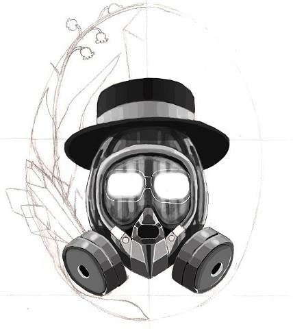 Breaking Bad: Heisenberg tattoo design sketch #1