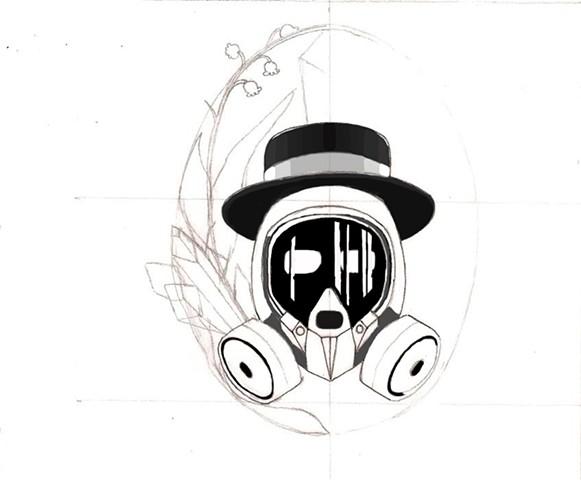 Breaking Bad: Heisenberg tattoo design sketch #3