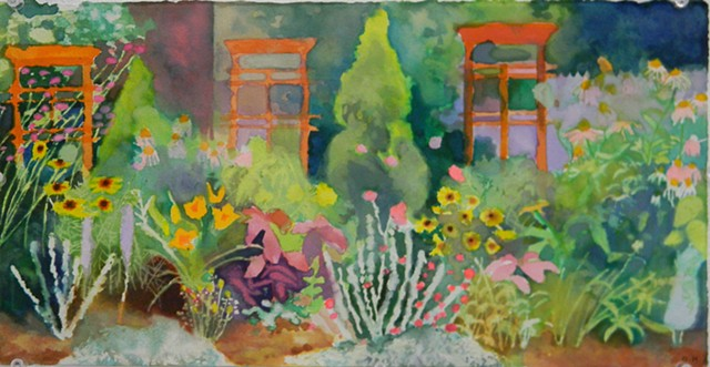 Study of my mothers garden #7