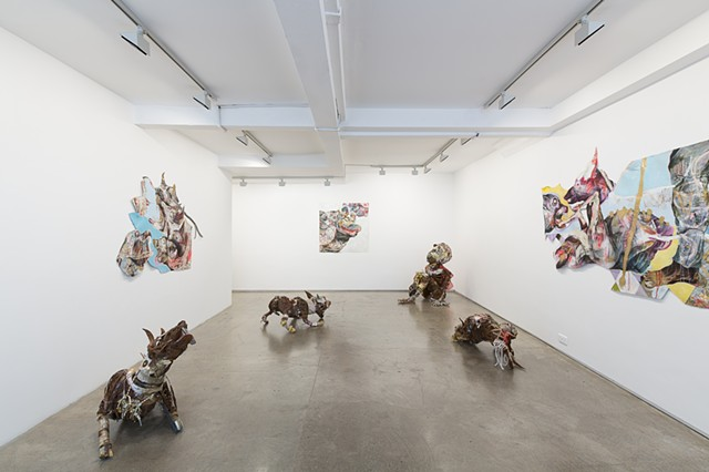 GUN DOGS: Installation view