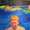 Edward in the Pool