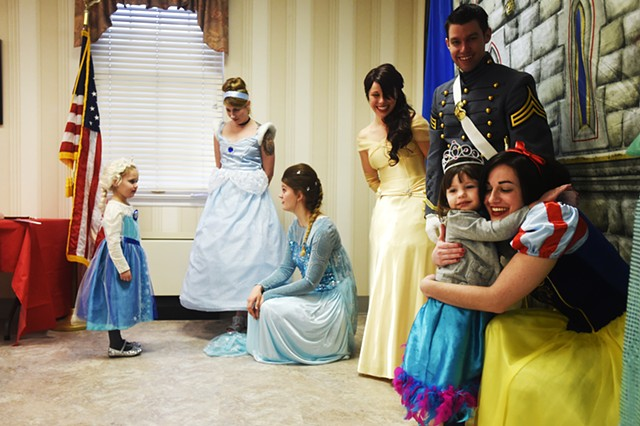 Princess Tea Time helped raise funds for Hanover's local roller derby team the Black Rose Rollers at Hanover YWCA, Feb. 14, 2015.