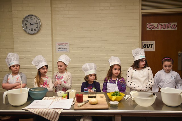 Participants in a  youth cooking class, East Berlin, Pennsylvania