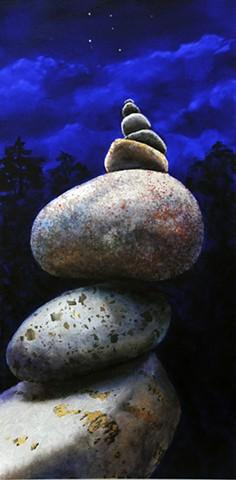 Makara, cairn, rock, stone