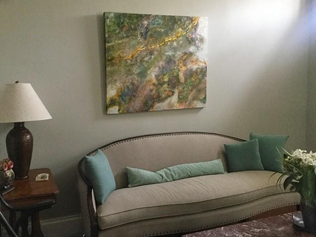 hanging in owner's home in Alexandria, Virginia