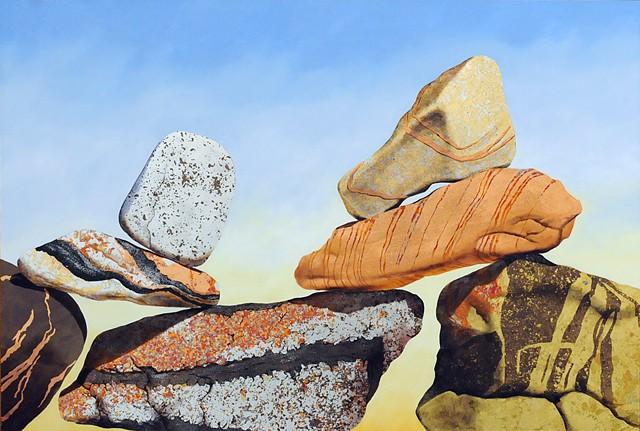stones, cairns, sedona, makara