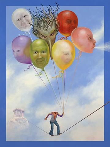balloon Man painting print Makara
