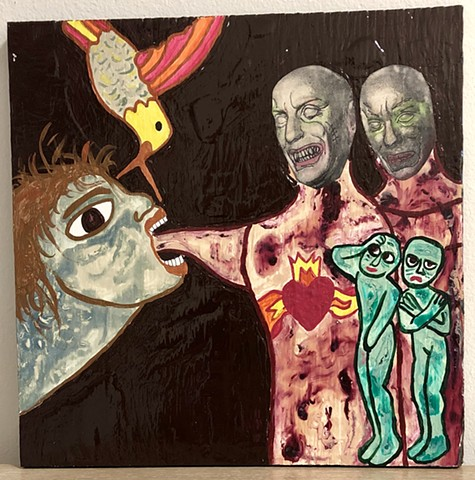 "jenniferbeinhacker.com ""self taught"" ""acrylic painting"" collage ""mixed media"" skeletons bird ""raw art"" ""modern art"" ""contemporary art"" ""primitive art"" ""deviant art"" ""outsider art"" ""visionary art"" ""art brut"" ""art naif"" ""naive art"" faces people women men ab"