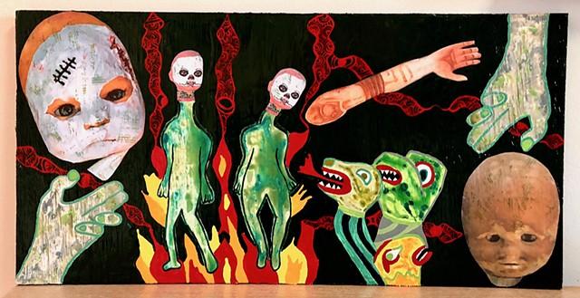 "jenniferbeinhacker.com ""self taught"" ""mixed media"" ""acrylic paint"" collage ""folk art"" ""metallic paint"" ""day of the dead"" ""outsider art"" ""visionary art"" ""dia de los muertos"" ""art naif"" ""naive art"" ""raw art"" ""art brut"" ""deviant art"" ""primitive art"" ""modern"