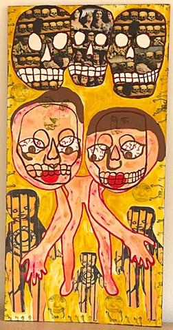 """jenniferbeinhacker.com """"self taught"""" """"acrylic painting"""" collage """"mixed media"""" """"folk art"""" """"outsider art"""" """"visionary art"""" """"naif art"""" """"naive art"""" """"raw art"""" """"art brut"""" """"deviant art"""" """"modern art"""" """"contemporary art"""" women men babies skulls stamps faces hands mo"""