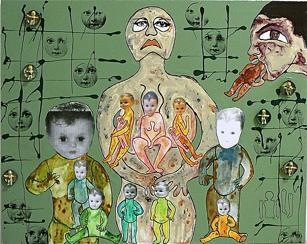 "jenniferbeinhacker.com ""self taught"" ""acrylic painting """"acrylic paint"" ""folk art"" ""mixed media"" assemblage collage ""water color paint"" women men children faces hands dolls surrealism expressionism ""visionary art"" ""primitive art"" ""deviant art"" ""folk art"""