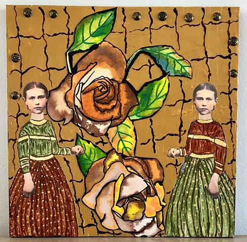 "jenniferbeinhacker.com ""self taught"" ""acrylic painting"" ""silk material paint"" collage ""mixed media"" ""folk art"" garden flowers woman women ""contemporary art"" ""modern art"" ""outsider art"" ""visionary art"" ""raw art"" ""naif art"" ""naive art"" expressionism surreal"