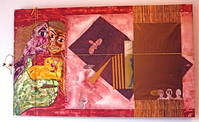 "jenniferbeinhacker.com collage ""self taught"" ""acrylic painting """"acrylic paint"" ""folk art"" ""mixed media"" assemblage ""water color paint"" women men children faces hands dolls surrealism expressionism ""visionary art"" ""primitive art"" ""deviant art"" ""folk art"""