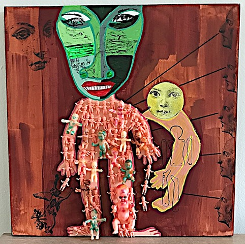 "jenniferbeinhacker.com ""self taught"" assemblage ""mixed media"" babies ""baby dolls"" toys ""acrylic paint"" ""metallic paint"" stamps ""folk art"" ""outsider art"" ""visionary art"" ""primitive art"" ""art brut"" ""naif art"" ""naive art"" ""modern art"" ""contemporary art"" ""dev"