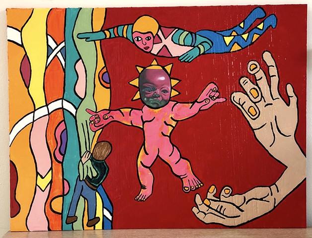 "jenniferbeinhacker.com ""self taught"" ""acrylic painting"" ""mixed media"" collage ""folk art"" ""deviant art"" ""modern art"" ""contemporary art"" ""metallic art"" ""outsider art"" ""art brut"" ""primitive art"" ""art naif"" ""naive art"" ""raw art"" baby child hands child design"