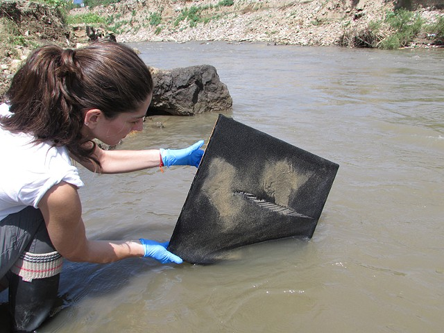 Purification Paintings in progress: Atoyac River, Oaxaca, Mexico