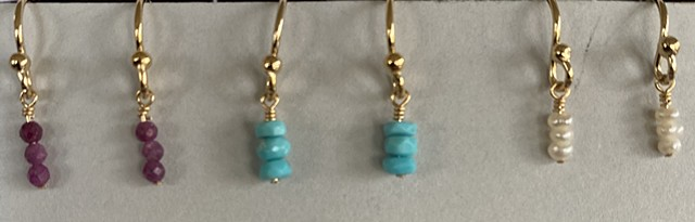 14k gold filled birthstone earrings