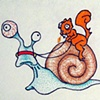 Squirrel on Snail