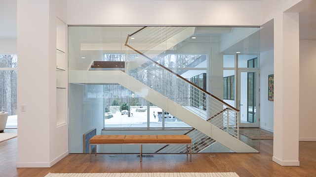 Winding Switchback staircase