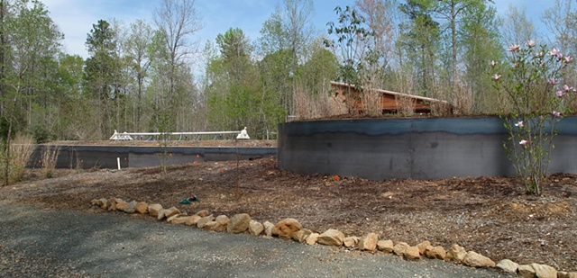 Steel cladded retaining walls