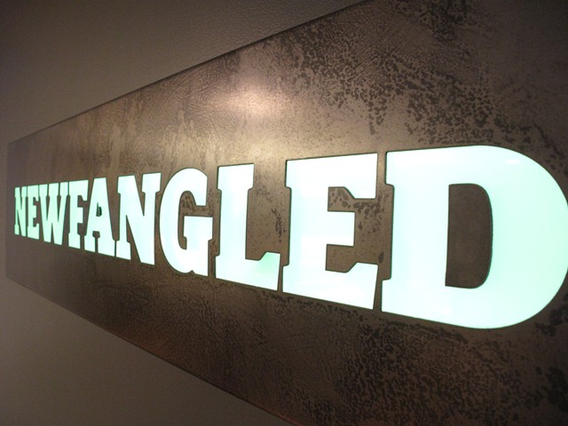 steel sign leds newfangled