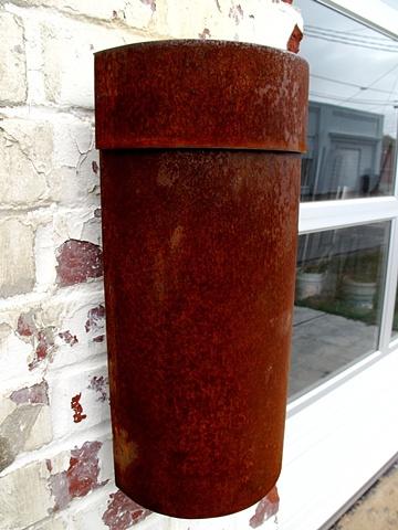 Corten steel industrial mailbox