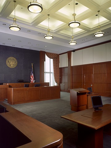 Courtroom, Erie Federal Courthouse, Erie Pennsylvania