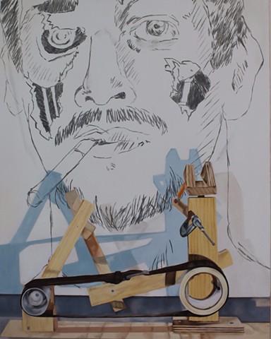 Autoportrait a la Cigarette