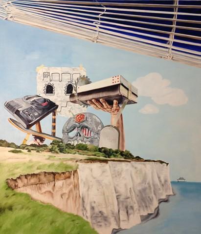 hyperrealistic 90s painting sega painting