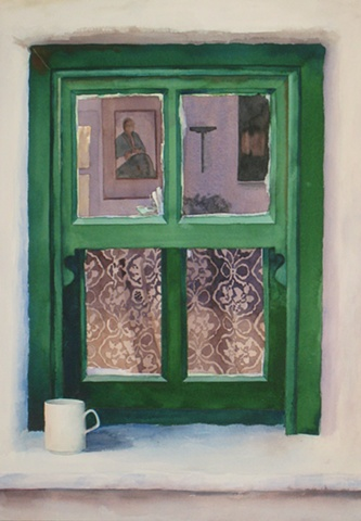 Watercolour artist canadian artist brittney lintick watercolor lace window