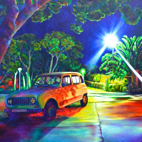 artist acrylic paint colour color car light art