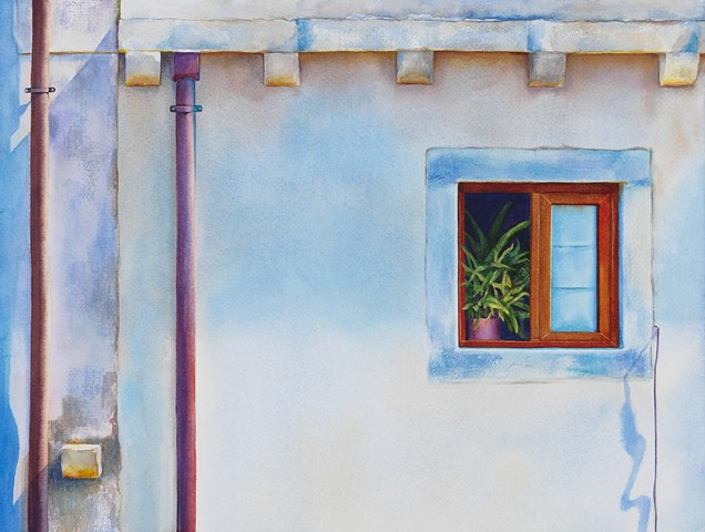 travel, colour, watercolour, window, Canadian contemporary art artist Brittney Tough