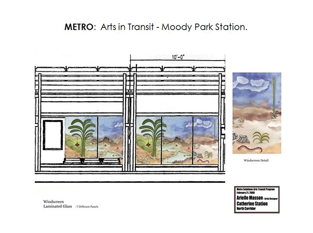 "Metro - Light Rail Transit- Houston, Texas. ""Moody Park"" North Line. Platform Design. Windscreens - Laminated Glass -"