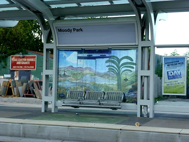 Moody Park Light rail Station in Houston, Texas.  Laminated Glass for the Windscreens.