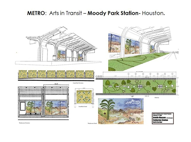 "Metro - Light Rail Transit- Houston, Texas. ""Moody Park"" North Line. Platform Design. General Concept -"