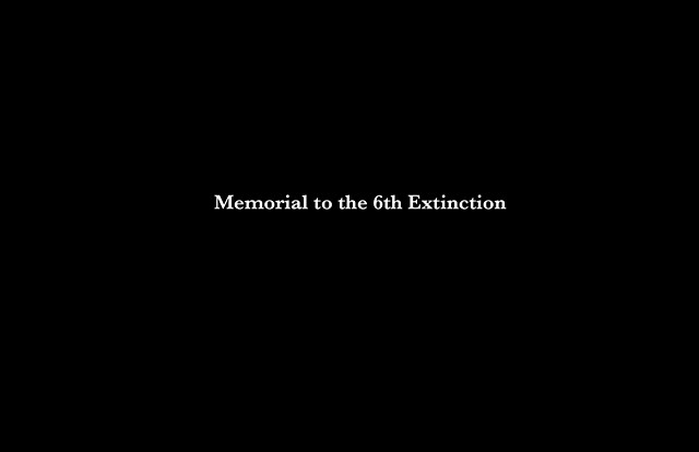 Washington DC Memorial to the 6th Extinction
