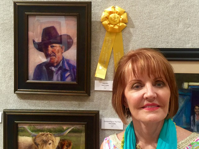 """Vaquero"" Wins Top Portrait Award at Central Texas Pastel Exhibition"
