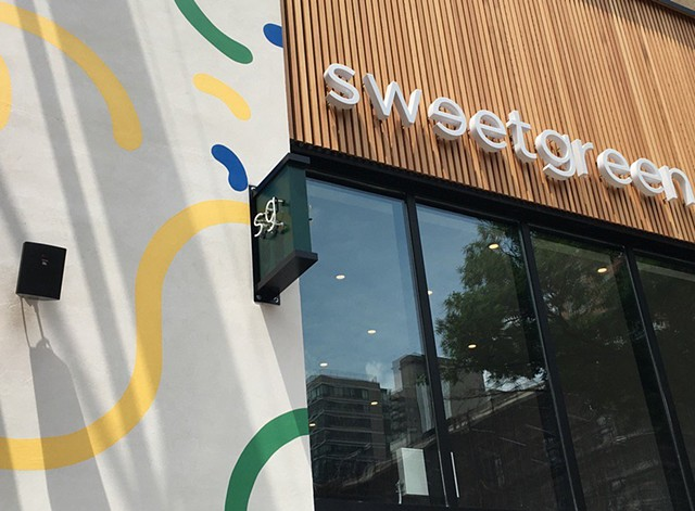 Exterior mural at Sweetgreen's Upper Eastside location