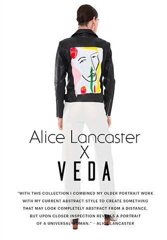 Collection of hand-painted jackets for VEDA