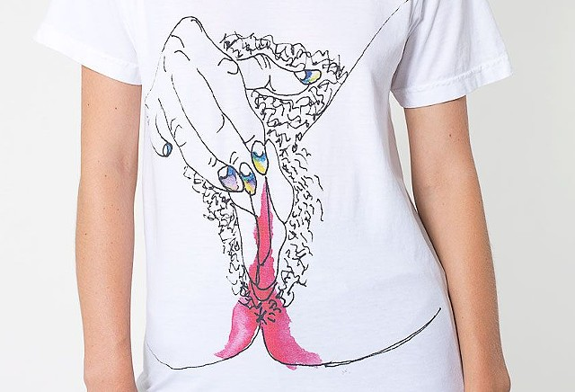 Illustration design for American Apparel limited edition t-shirt with Petra Collins