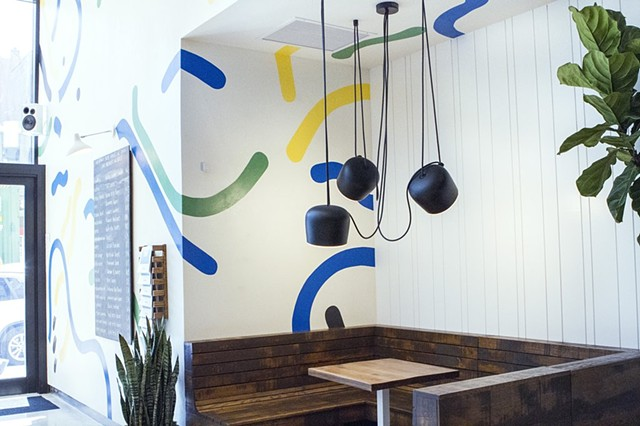 Interior mural at Sweetgreen's Upper Eastside location