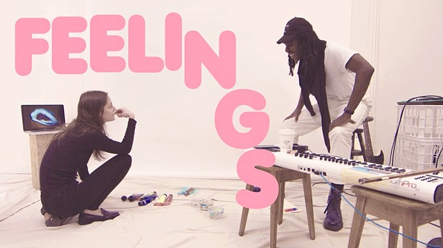 I collaborated with Dev Hynes to create  a series of paintings for the book FEELINGS published by Rizzoli.