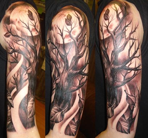 Moon and Tree