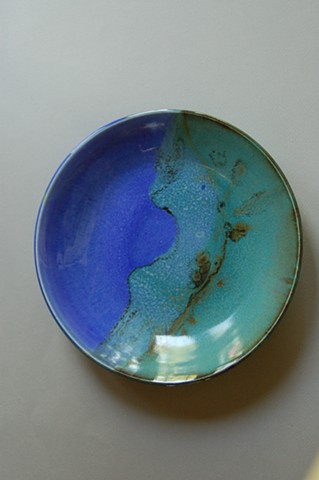 LCF Plate of Blue & Green Porcelain
