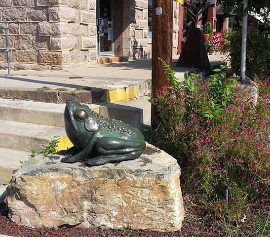 SCULPTURE , CAST BRONZE, in MARBLE FALLS MAINSTREET EVENT 2015-16
