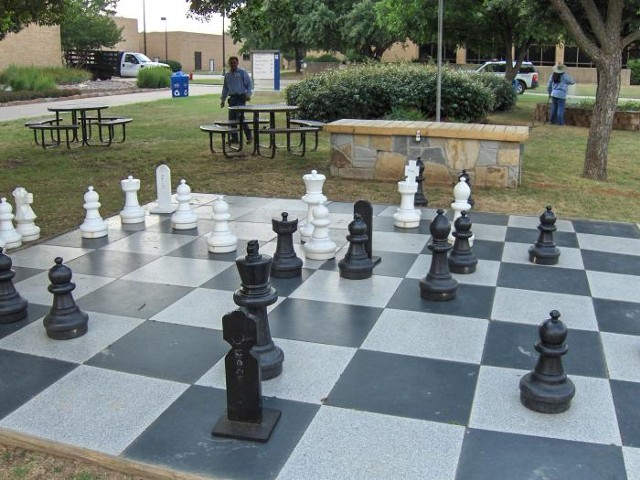 Giant Outdoor Chessboard, granite
