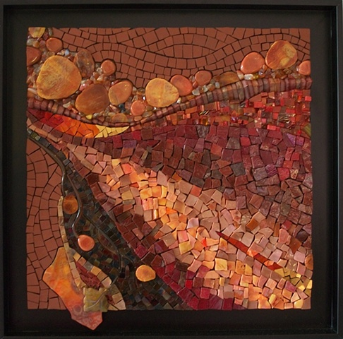 Abstract mixed media mosaic