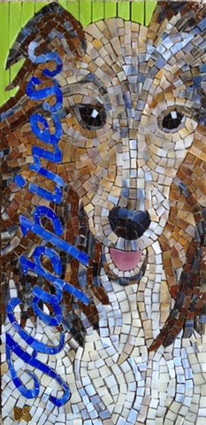 Dell children's medical center mosaic wall woody pet therapy