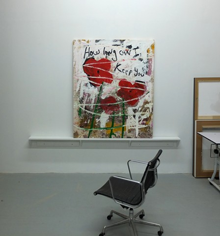 Studio: Long Island City, NY How Long Can I Keep You, 60x50in